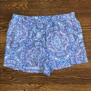 skies are blue bea printed short blue large